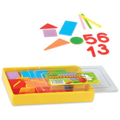 """Касса цифр и счетных материалов СТАММ """"Учись считать"""", 132 элемента"""