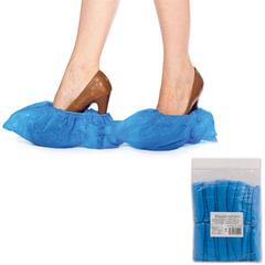 Бахилы ОСОБО ПРОЧНЫЕ, комплект 100 штук (50 пар), чехлы для обуви, размер 39х15 см, ПВД 35 мкм, евроупаковка