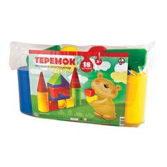 """Конструктор пластиковый """"Теремок"""", 18 элементов, в ПВХ сумке, цветной, """"Десятое королевство"""""""