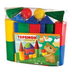 """Конструктор пластиковый """"Теремок"""", 27 элементов, в ПВХ сумке, цветной, """"Десятое королевство"""""""