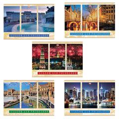 """Альбом для рисования, 40 л., HATBER VK, обложка мелованный картон, 100 г/м2, """"Города мира"""" (5 видов), 40А4С"""