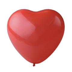 """Шары воздушные 10""""(25 см), комплект 50 шт., """"Сердце"""", красный цвет, в пакете"""