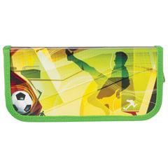 """Пенал 1 отделение BRAUBERG, для учеников начальной школы, ламинированный картон, """"Спорт"""", 19х9 см"""