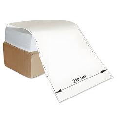 """Бумага с неотрывной перфорацией, 210х305(12"""")х2000 (1600 л.), плотность 65 г/м2, белизна 98%, STARLESS"""