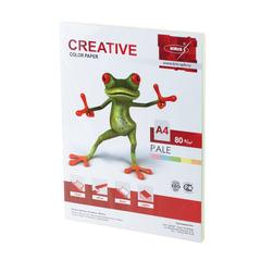 Бумага CREATIVE color (Креатив), А4, 80 г/м2, 100 л. (5 цв.х20 л.), цветная пастель