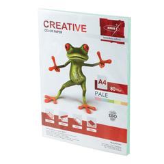 Бумага CREATIVE color (Креатив), А4, 80 г/м2, 100 л., пастель зеленая
