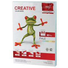 Бумага CREATIVE color (Креатив), А4, 80 г/м2, 250 л. (5 цв. х 50 л.), цветная пастель