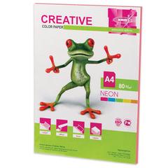 Бумага CREATIVE color (Креатив), А4, 80 г/м2, 50 л., неон розовая