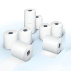Рулоны для кассовых аппаратов, термобумага, 57х80х12 (80 м), комплект 8 шт., гарантия намотки, BRAUBERG