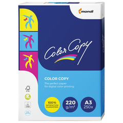 Бумага COLOR COPY, А3, 220 г/м2, 250 л., для полноцветной лазерной печати, А++, Австрия, 161% (CIE)