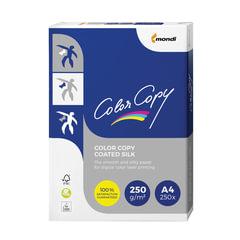 Бумага COLOR COPY SILK, мелованная, матовая, А4, 250 г/м2, 250 л., для полноцветной лазерной печати, А++, Австрия, 138% (CIE)