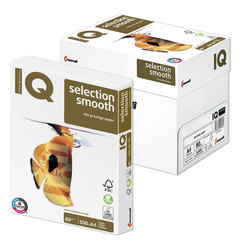 "Бумага IQ SELECTION SMOOTH, А4, 80 г/м2, 500 л., класс ""А+"", Австрия, белизна 169% (CIE)"