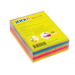 Блок самоклеящийся (стикер) HOPAX с отверстием для ручки, 76х101 мм, 280 л., 7 цветов, неон
