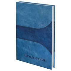 "Ежедневник датированный на 4 года, BRAUBERG ""Кожа синяя"", А5, 133х205 мм, 192 листа"