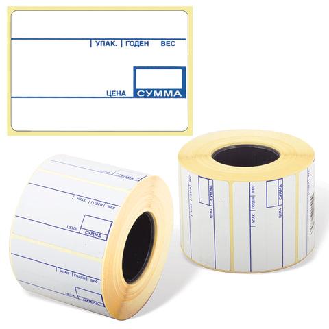 Этикетка ТермоЭко, для термопринтера и весов, 58х40х700 шт. (ролик), с препринтом, светостойкость до 2 месяцев