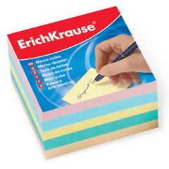Блок для записей ERICH KRAUSE непроклеенный, 9х9х5 см, цветной