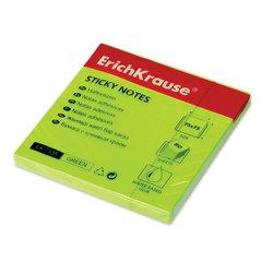 Блок самоклеящийся (стикер) ERICH KRAUSE НЕОН, 75х75 мм, 80 л., зеленый