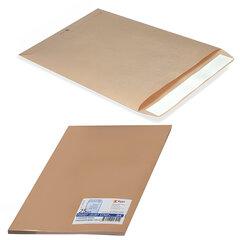 Конверт-пакет С5 плоский, комплект 25 шт., 162х229 мм, отрывная полоса, крафт-бумага, коричневый, на 90 листов