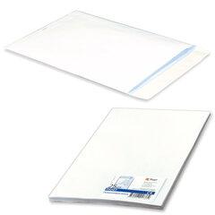 Конверт-пакет С4 плоский, комплект 25 шт., 229х324 мм, отрывная полоса, белый, на 90 листов