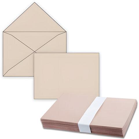 Конверты С4, комплект 500 шт., без клеевого слоя, крафт-бумага, треугольный клапан, 229х324 мм