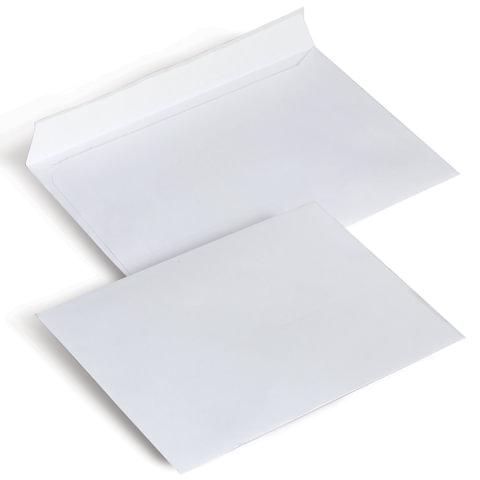 Конверты С6, комплект 1000 шт., отрывная полоса STRIP, белые, 114х162 мм