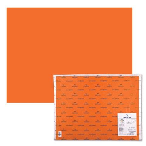 "Бумага (картон) CANSON ""Iris Vivaldi"", А2+, 500х650 мм, 240 г/м2, 2-сторонняя, светло-оранжевая"