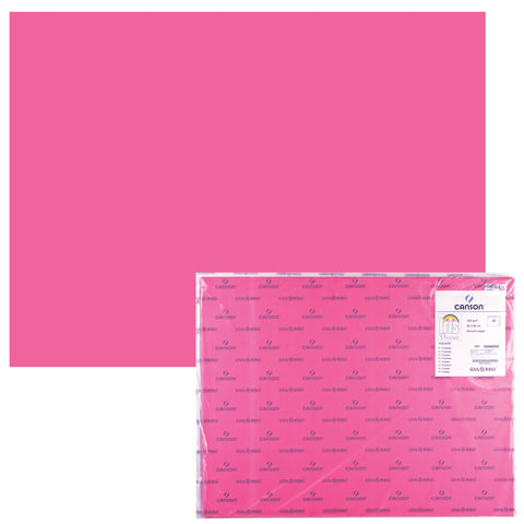 "Бумага (картон) CANSON ""Iris Vivaldi"", А2+, 500х650 мм, 240 г/м2, 2-сторонняя, фуксия"