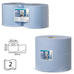 Бумага протирочная TORK (Система W1, W2), комплект 2 шт., Advanced, 750 л./рулоне, 34х23 см, 2-слойная, 130052