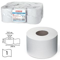 Бумага туалетная 200 м, ЛАЙМА, комплект 12 шт., эконом-универсал