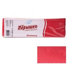 """Салфетки бумажные, 400 шт., 24х24 см, """"Перышко"""" Big Pack, красные интенсив, сырье Италия"""
