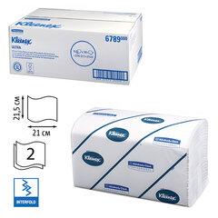 Полотенца бумажные 186 шт., KIMBERLY-CLARK Kleenex, комп. 15 шт., Ultra, 2-х слойн., белые, 21х21,5см, Interfold, 601533-534, 6789