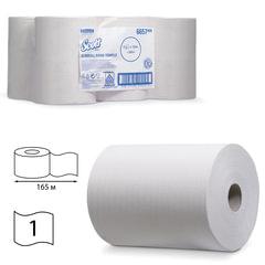 Полотенца бумажные рулонные KIMBERLY-CLARK Scott, комплект 6 шт., Slimroll, 165 м, белые, диспенсер 601536, 601537, АРТ. 6657