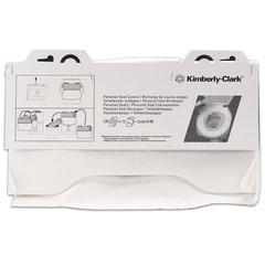 Покрытия на унитаз KIMBERLY-CLARK, 1/2 сложения, 125 штук, 38,1х45,7, комплект 12 штук, белые, диспенсер 601549