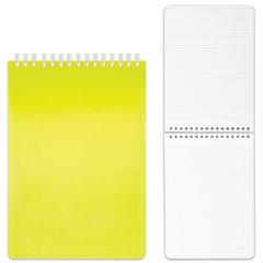 "Блокнот А5, 80 л., гребень, пластиковая обложка, HATBER, ""DIAMOND-желтая"", 145х205 мм, 80Б5B1гр 02037"