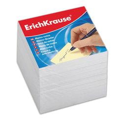Блок для записей ERICH KRAUSE непроклеенный, 9х9х9 см, белый