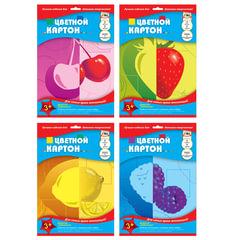 Цветной картон, А4, мелованный двусторонний, 7 листов, 7 цветов, лакированная обложка, АППЛИКА, 205х290 мм