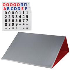 Касса букв и цифр, 35х40 см, русский и английский алфавит, магнитная, красная, ДПС
