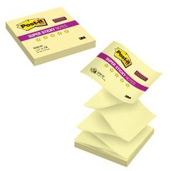Блок самоклеящийся (стикер) POST-IT Super Sticky (Z-блок), 76х76 мм, 90 л., желтый