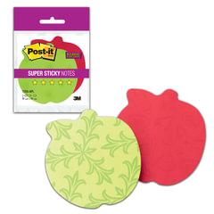 """Блоки самоклеящиеся (стикеры) POST-IT Super Sticky, комплект 2 шт., """"Яблоко"""", 75 л., красные/зеленые"""