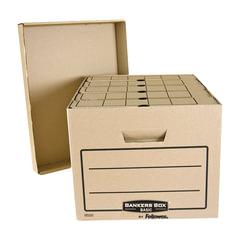 """Короб архивный FELLOWES Bankers Box """"Basic"""", 33,5x44,5x27 см, с крышкой, гофрокартон, коричневый"""