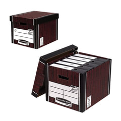 "Короб архивный FELLOWES Bankers Box ""Woodgrain"", 32,5x28,5x38,5 см, с крышкой, гофрокартон"