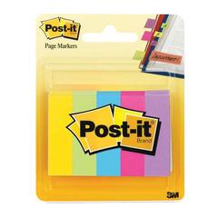 Закладки самоклеящиеся POST-IT Professional, бумажные, 12,7 мм, 5 цветов х 100 шт.