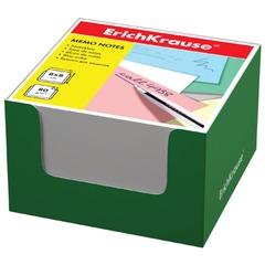 Блок для записей ERICH KRAUSE в подставке картонной зеленой, куб, 8х8х5 см, белый