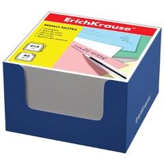 Блок для записей ERICH KRAUSE в подставке картонной синей, куб, 8х8х5 см, белый