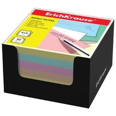 Блок для записей ERICH KRAUSE в подставке картонной черной, куб, 8х8х5 см, цветной
