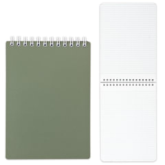 """Блокнот А5, 80 л., гребень, пластиковая обложка, HATBER, """"Темно-зеленый"""", 145х205 мм, 80Б5В1гр 03412"""