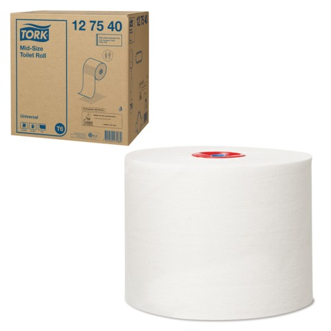 Бумага туалетная 135 м, TORK (Система Т6), комплект 27 шт., Universal, белая, 127540