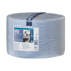Бумага протирочная TORK (Система W1), 1500 листов в рулоне, 23,5х34 см, 2-слойная, голубая, 130051