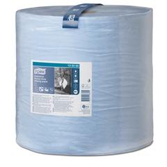 Бумага протирочная TORK (Система W1), 750 листов в рулоне, 34х36,9 см, 3-слойная, голубая, суперпрочная, 130080