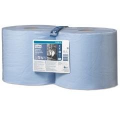 Бумага протирочная TORK (W1/2), комплект 2 шт., 350 листов в рулоне, 23,5х34 см, 3-сл., голубая, суперпрочная,диспенсер 602998-999
